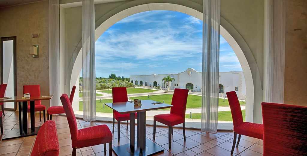 Enjoy a meal with a view