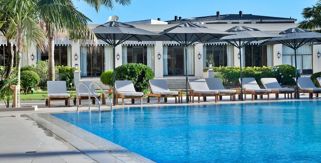 Relax by the magnificent pool
