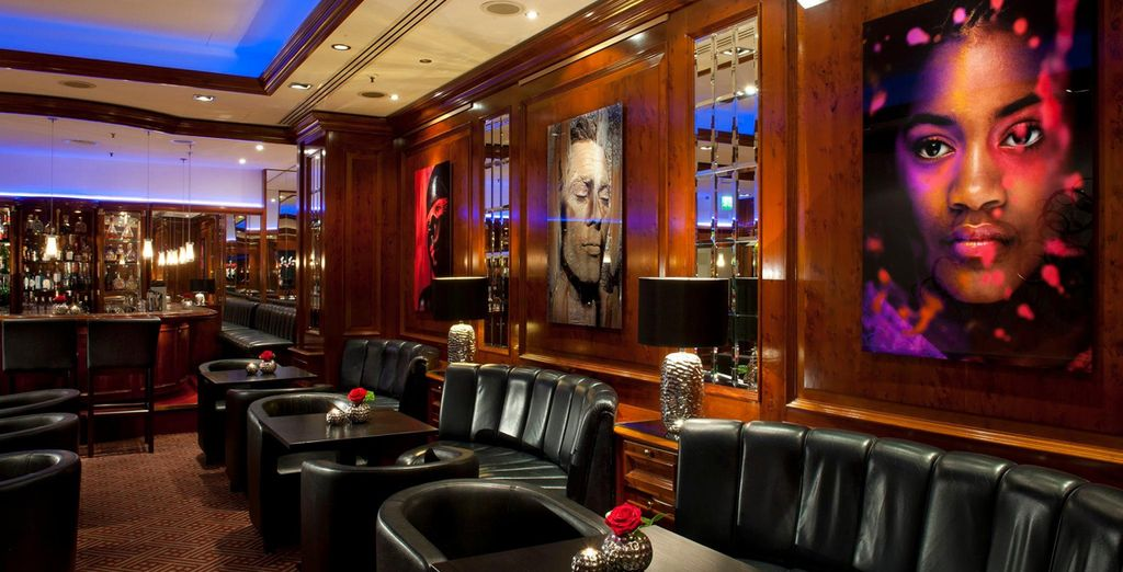 Have a drink in the classy surroundings