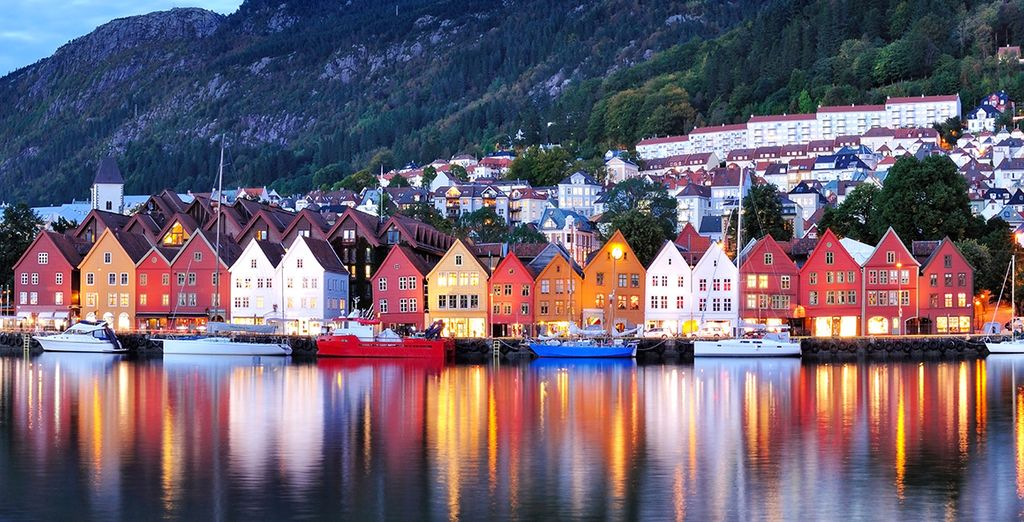 You will also visit charming cities such as Bergen