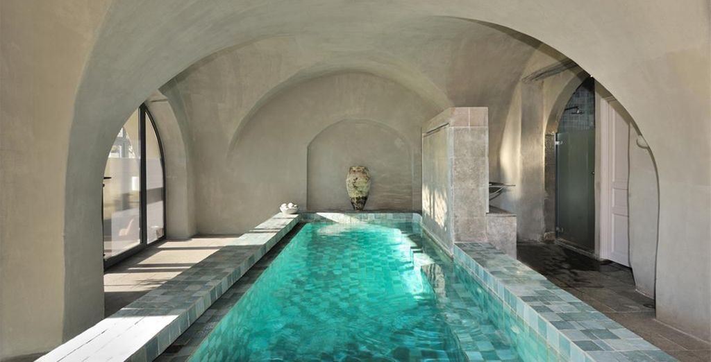 On your return, head to the hotel's spa, located in vintage vaults