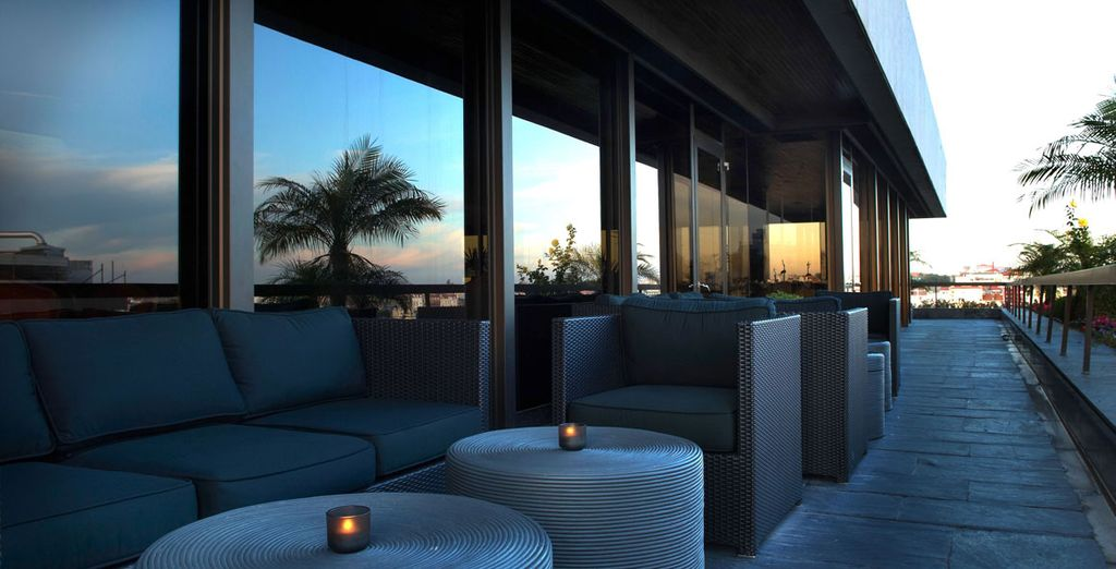 Relax on the terrace in the evening