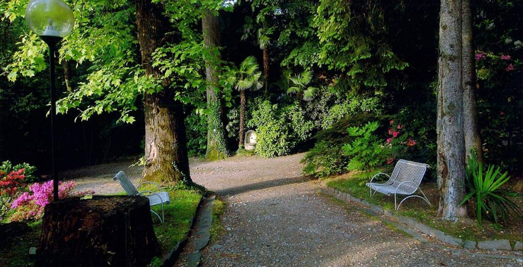 Set within 30,000 square metres of luxuriant gardens