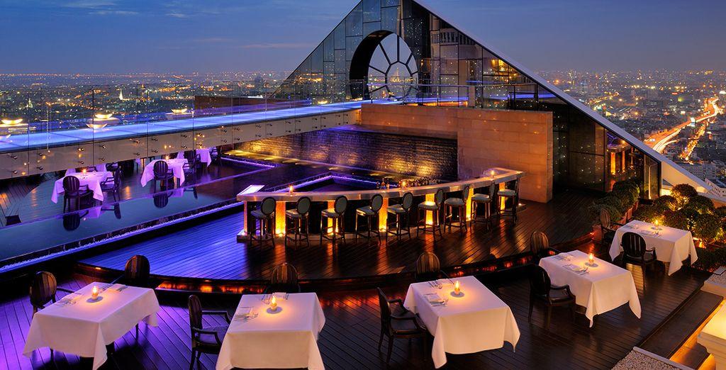 Sip a cocktail at the breathtaking rooftop bar of Lebua Tower Bangkok