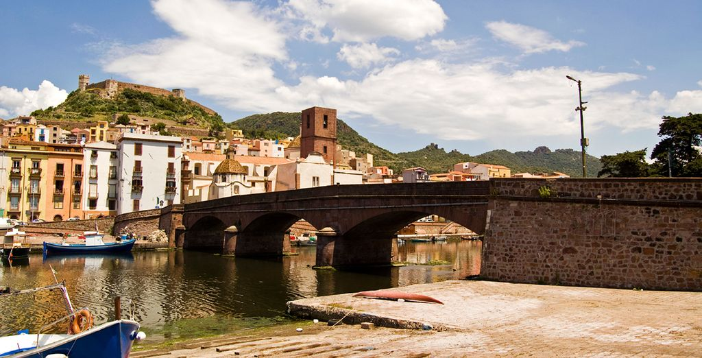Wonder through the charming city of Bosa