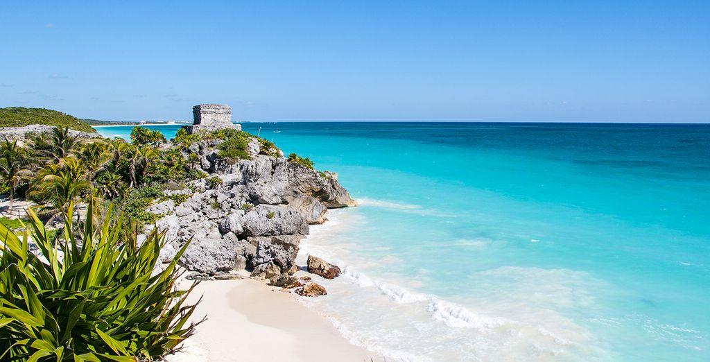 Featuring a pristine beach