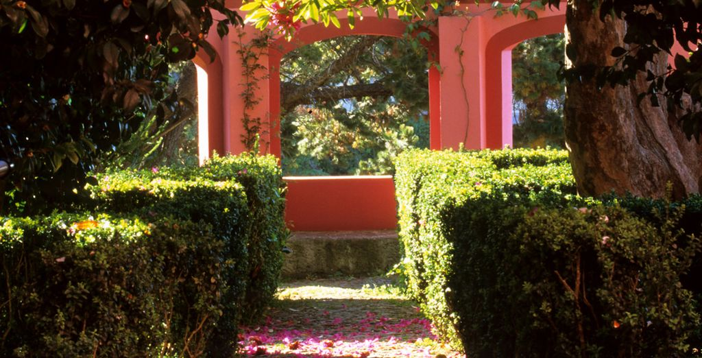 Or take a stroll through its secret gardens