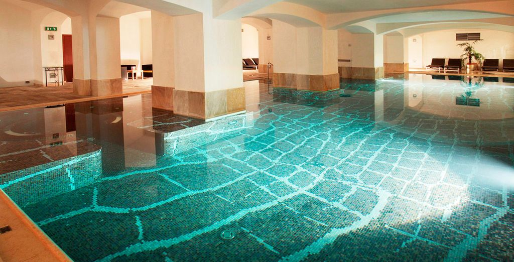 And a wonderful pool with a mosaic floor
