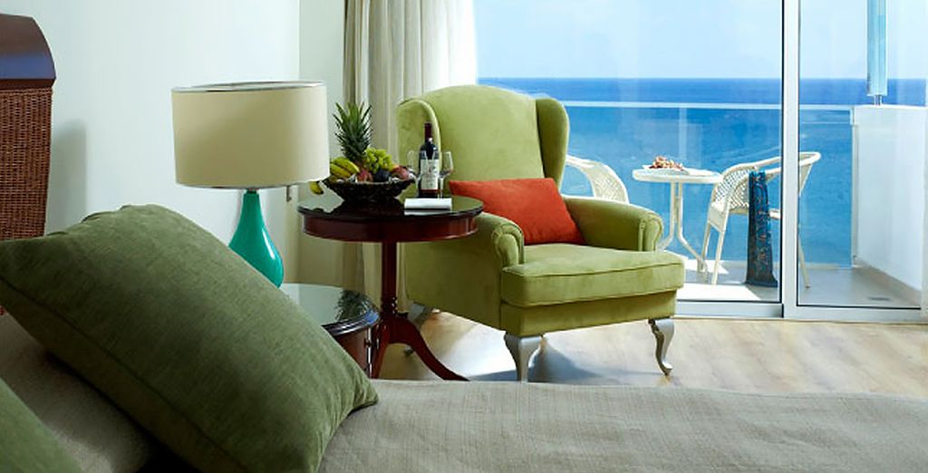 Relax in a Deluxe Sea View Room