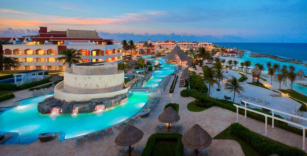 At the stylish Hard Rock Hotel, Riviera Maya