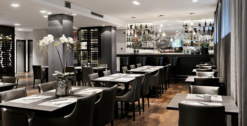Then wine and dine in the hotel's stylish restaurant