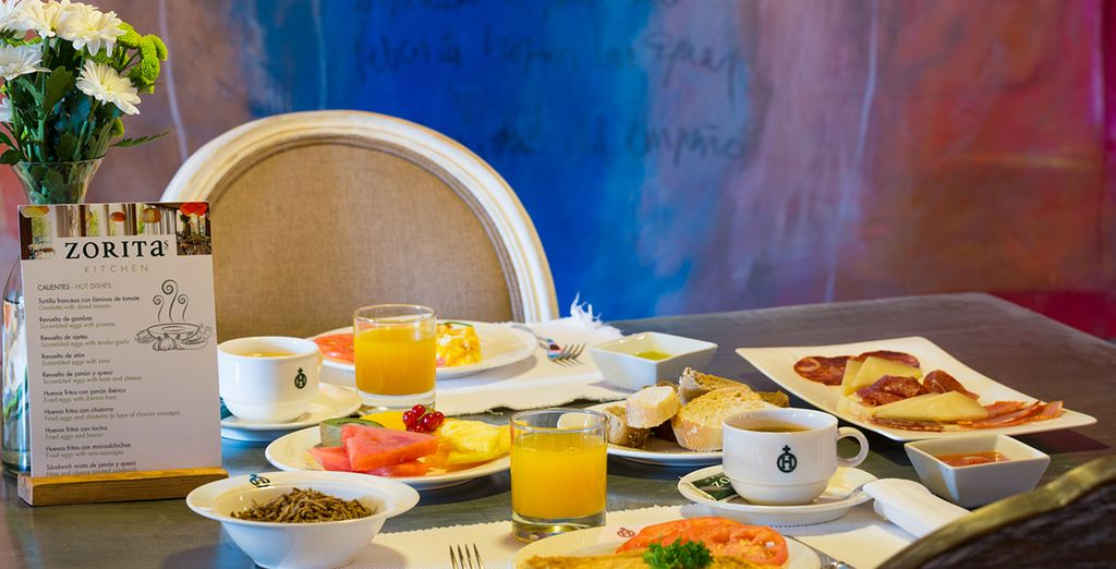 Breakfast is included in the offer at the Hacienda Zorita