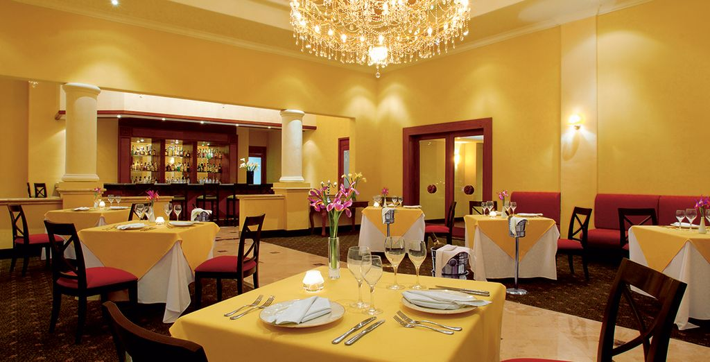Then dine in style at one of the restaurants
