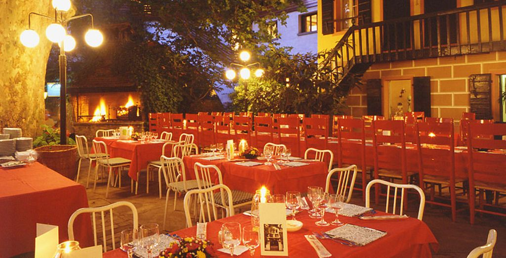 But's its romantic patio is the real highlight!