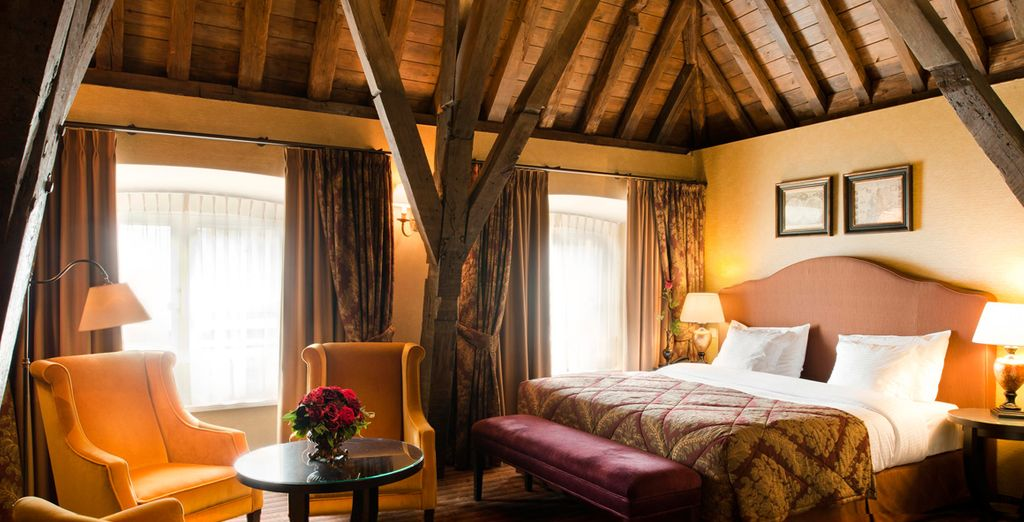 And cosy up in romantic rooms