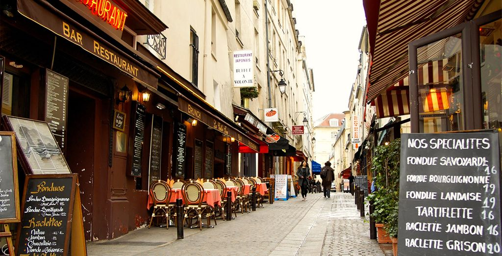 And Rue Mouffetard- one of the oldest streets in Paris, famous for its shops and lively restaurants