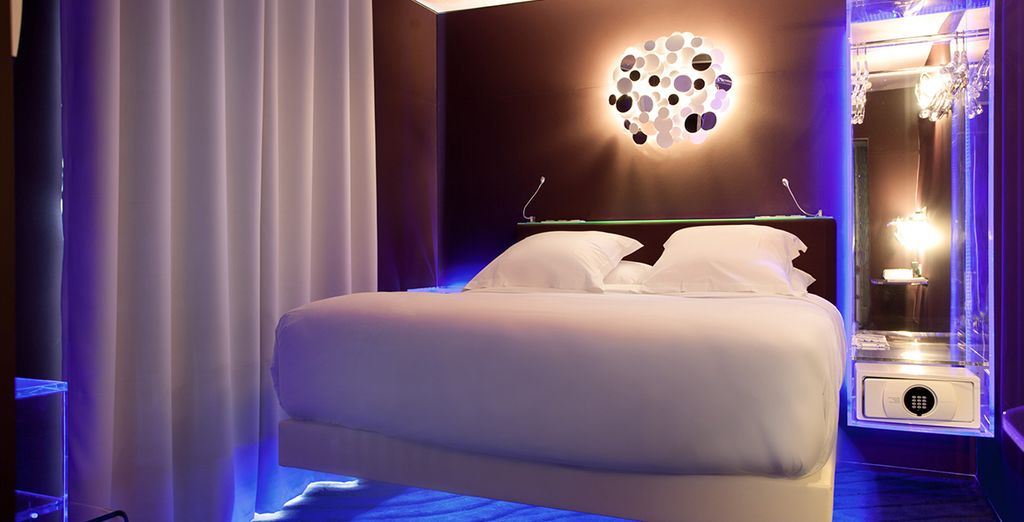 Before making your way to your futuristic room - choose from a Classic Room....
