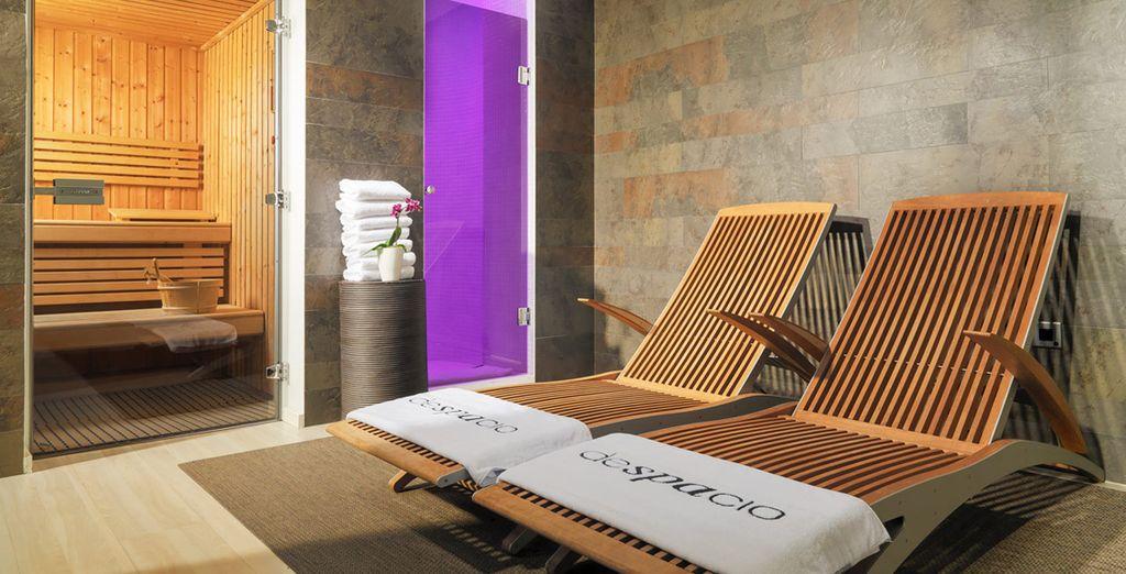 Or retreat to the sauna to reinvigorate your senses