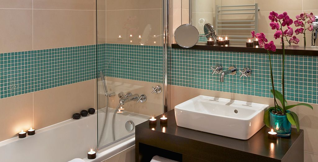 With a luxury, ensuite bathroom