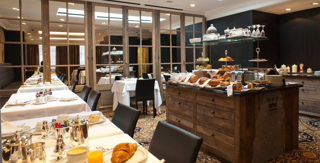 Our offer includes a sumptuous daily breakfast