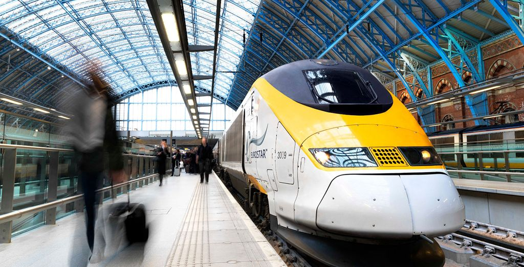 And Eurostar to Brussels with local train service to Bruges
