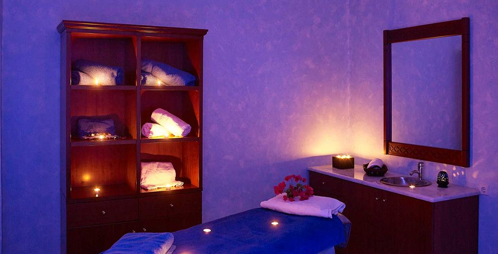 Retreat to the atmospheric spa