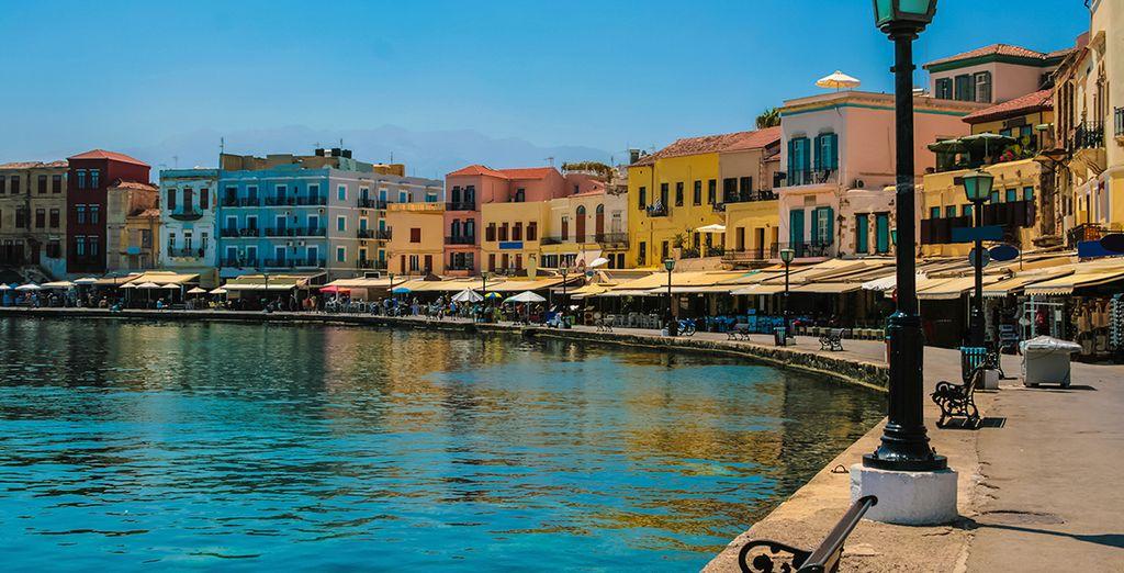 Explore Chania's Venetian harbour...