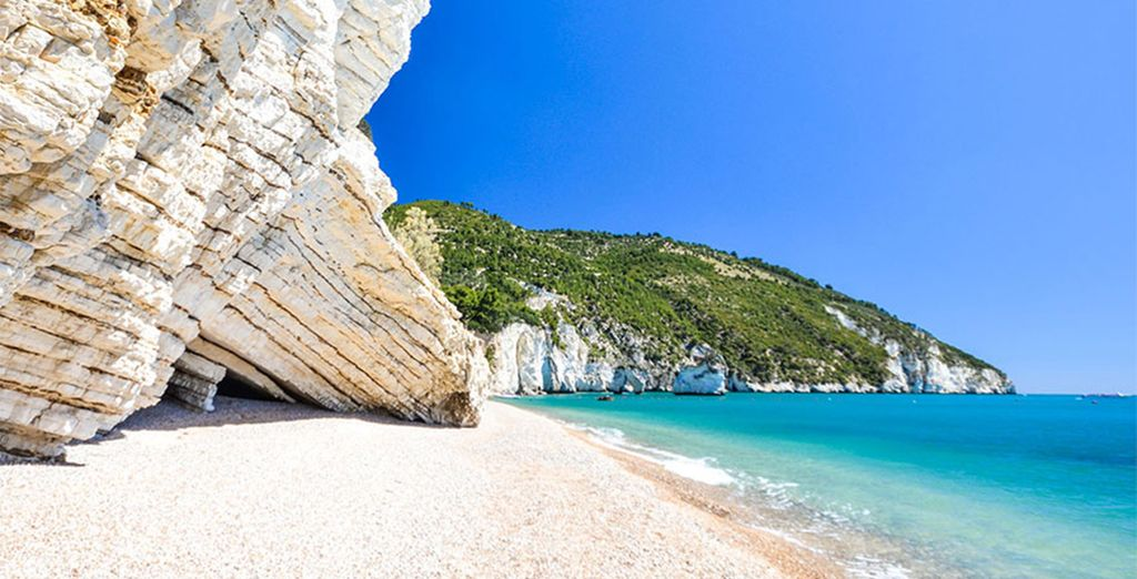 You are surrounded by crystal clear waters in this beautiful part of Italy