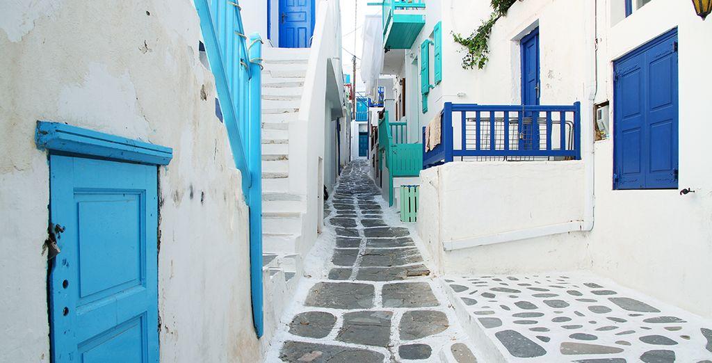 Just a short walk from Mykonos Town