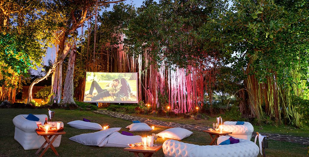 End the day with a movie under the stars