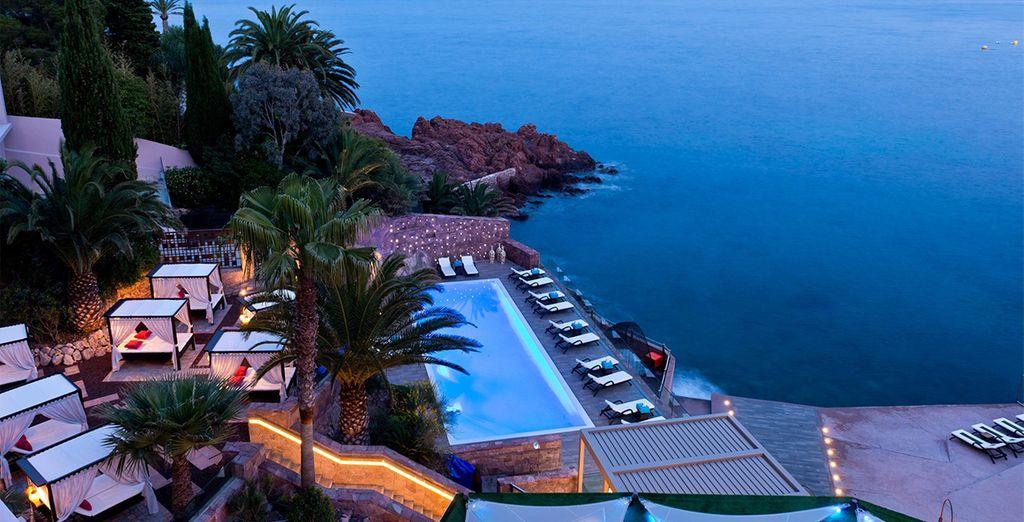Perched above the Mediterranean sea....
