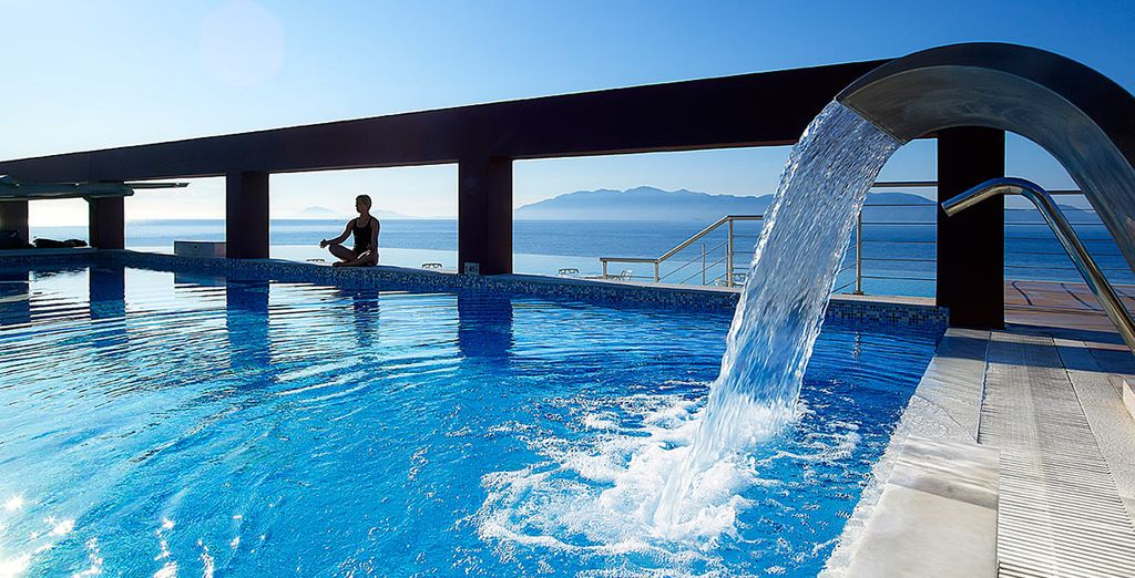 Take a dip in the gorgeous infinity pool