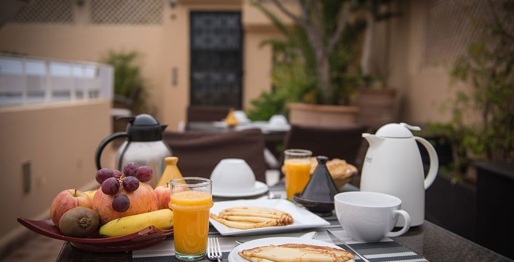A delicious daily breakfast is included in the offer