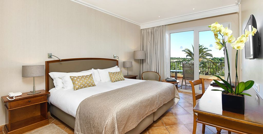 Where our members will stay in a Sea Side View Room