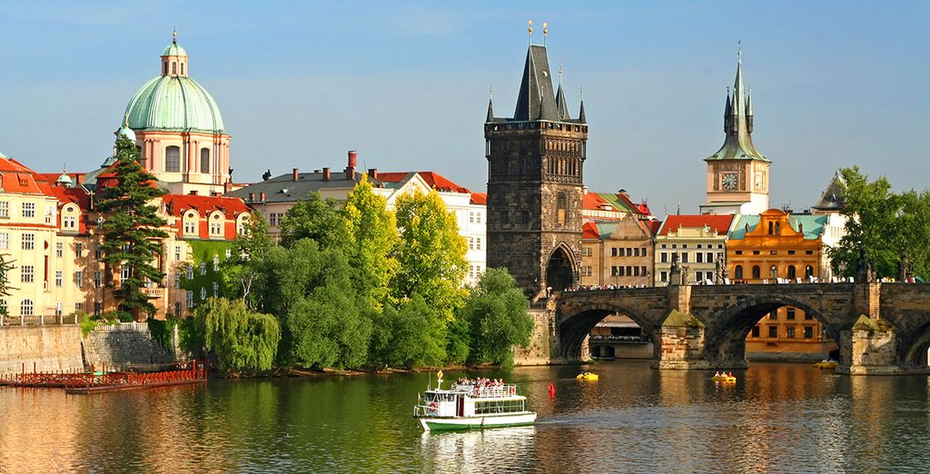 Your itinerary can begin or end in Prague - the Golden City.