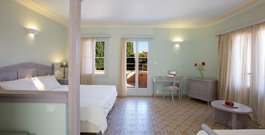 Where you can choose from a room with a garden view....