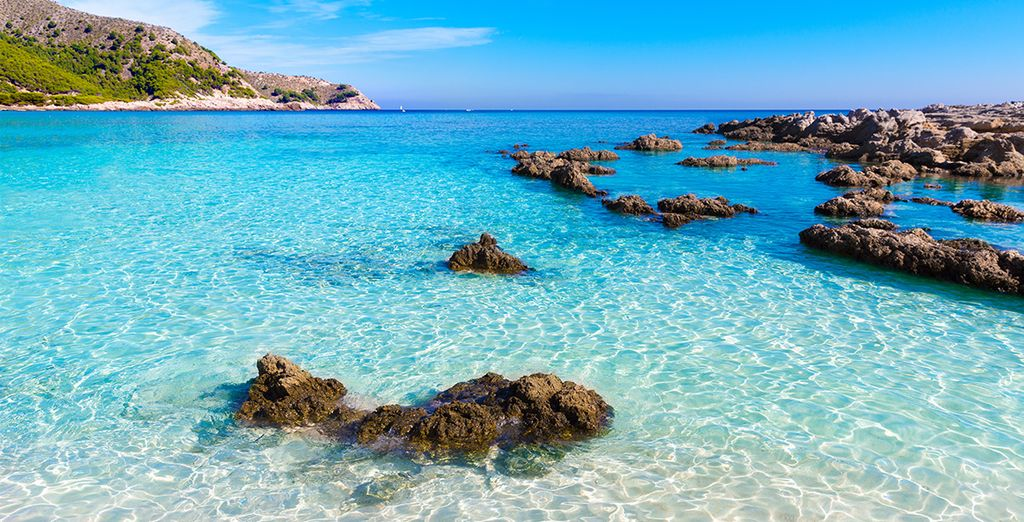 You won't be able to resist the crystal clear waters