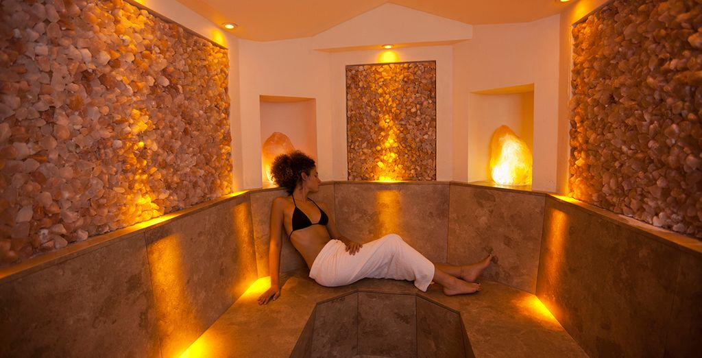 After a day of  fresh mountain air, wind down in the hotel's wellness centre