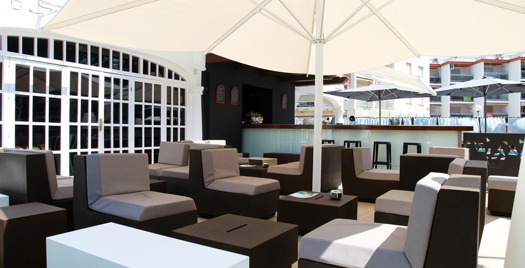 Have a drink at the cool bar on the terrace
