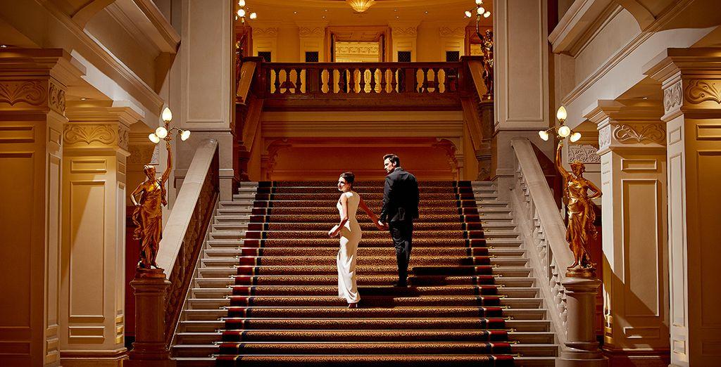 An elegant and glamorous hotel