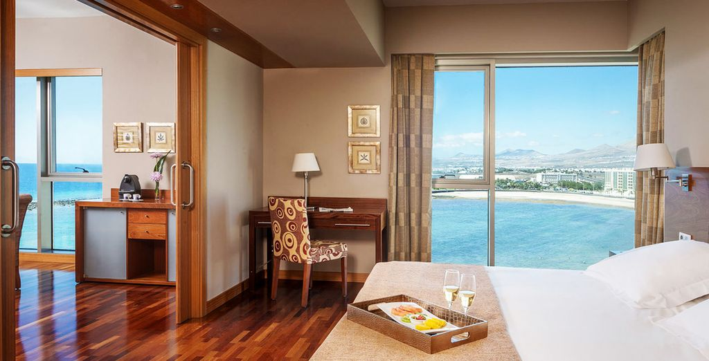 Stay in a spacious Suite