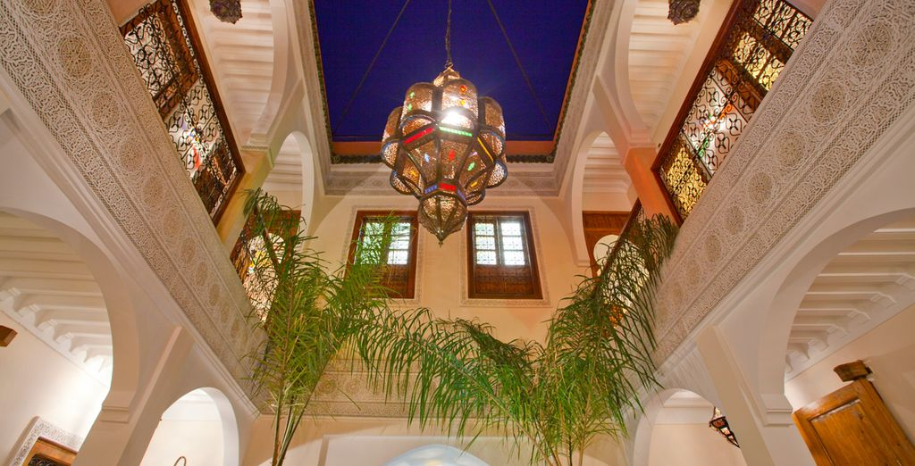 At the quiet, yet charming Riad L'Arbre Bleu