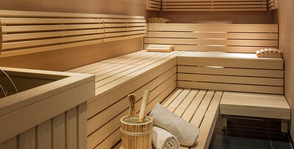 Warm up with a cosy sauna session