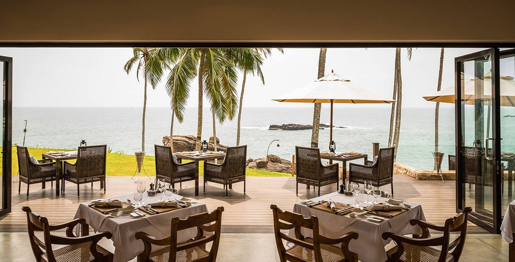 Dine in the enticing restaurant