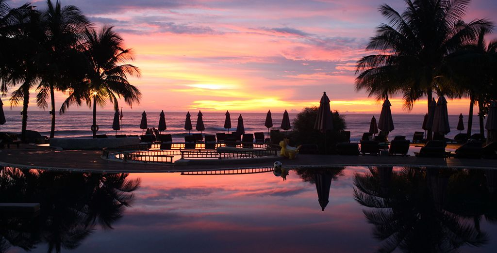 As the sun sets on paradise
