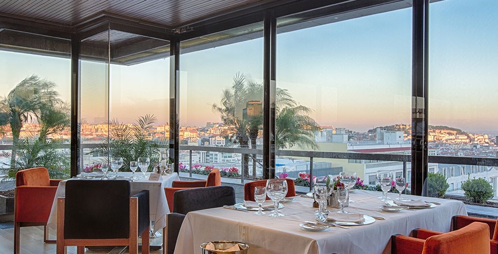 Dine with panoramic views of Lisbon