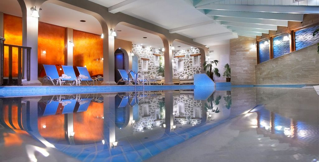 Escape the heat of the day in the spa