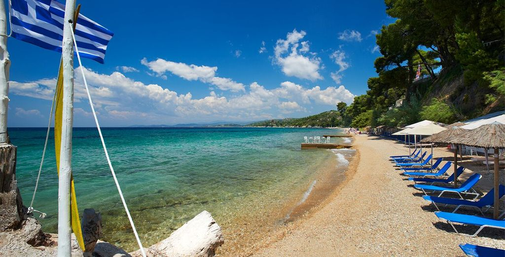 Experience the unspoilt coastline of Sithonia