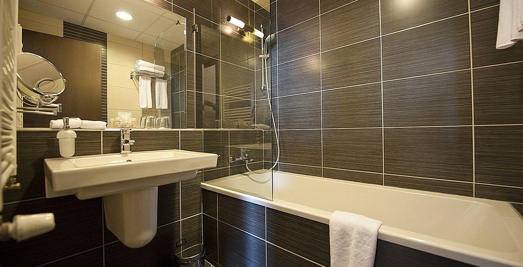 And a modern ensuite