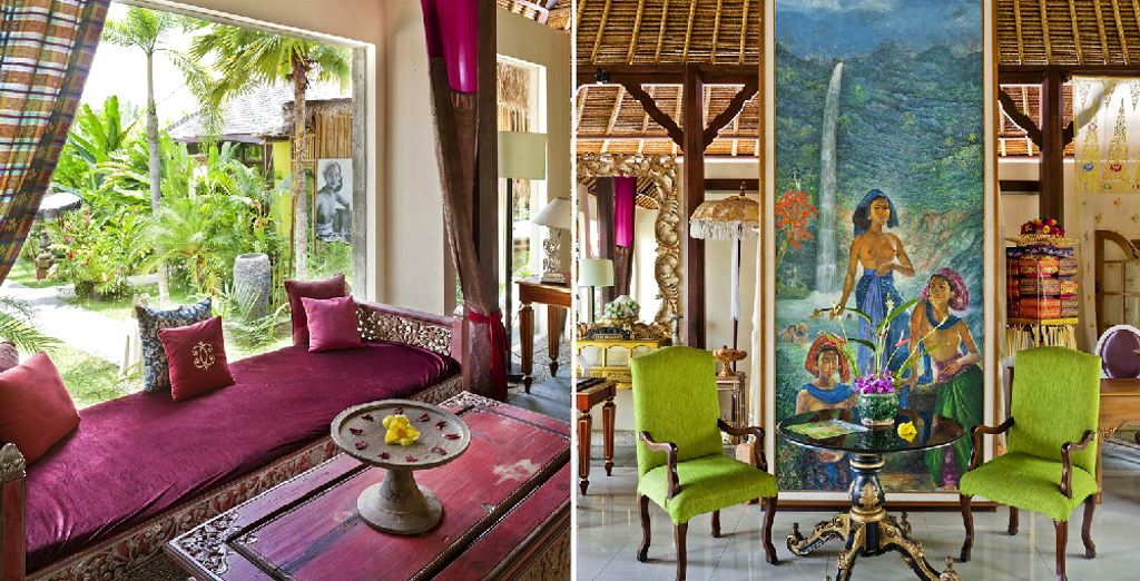 Interiors are peppered with the work of local artists